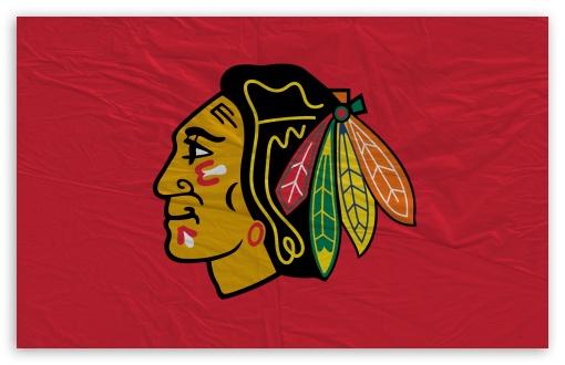 Download Chicago Blackhawks Flag UltraHD Wallpaper