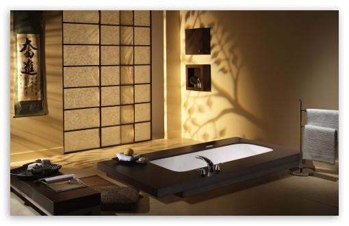 Download Japanese Bathroom UltraHD Wallpaper