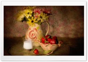 Bowl Of Strawberries, Vintage