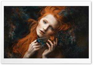Red Hair, Blue Eyes, Woman