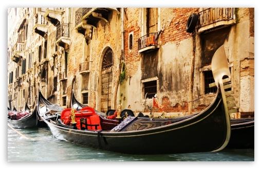 Download Gondola Venice UltraHD Wallpaper