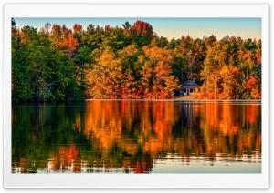 Villa In Autumn Forest