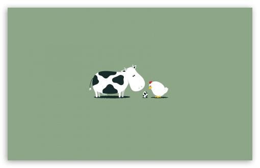 Download Funny Cow Egg UltraHD Wallpaper