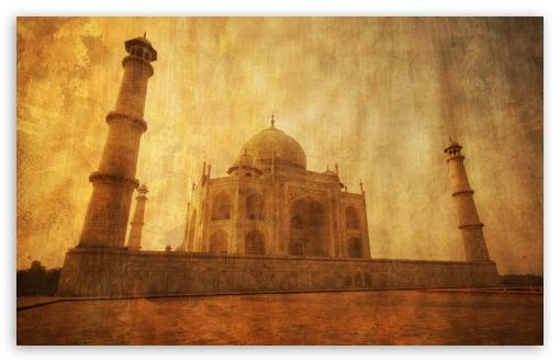 Download Taj Mahal, Vintage UltraHD Wallpaper
