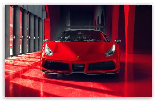 Download Cool Red Ferrari Car 2018 UltraHD Wallpaper