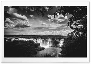 Iguazu Falls Black and White