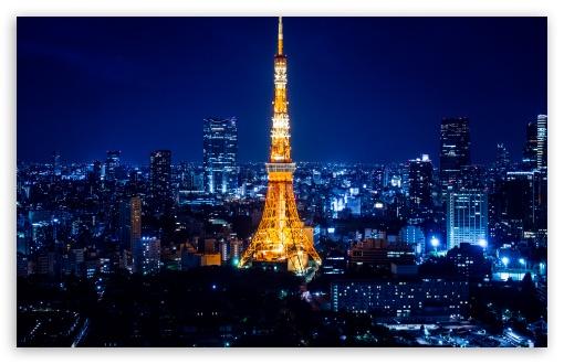 Download Tokyo Tower At Night UltraHD Wallpaper