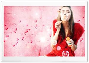 Nina Dobrev Blowing Bubbles