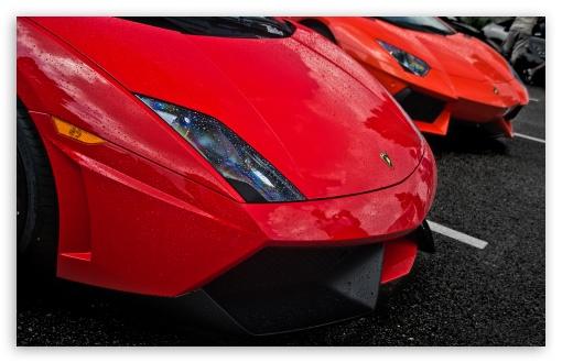 Download Red Lamborghinis UltraHD Wallpaper