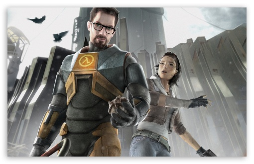 Download Half-Life 2 - Gordon and Alyx UltraHD Wallpaper