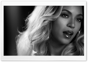 Beyonce Black And White Portrait