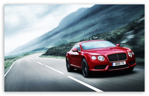 Download 2012 Red Bentley Continental UltraHD Wallpaper