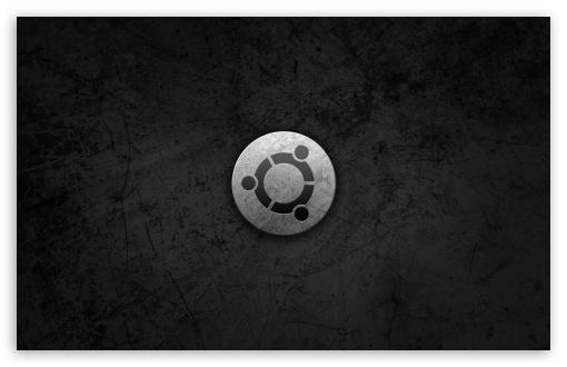 Download Ubuntu Metal Style Logo UltraHD Wallpaper