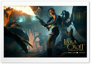 Lara Croft Flamethrower