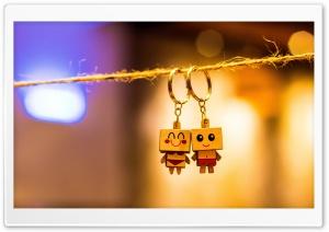 Box Man Couple Key Chain