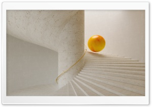 Sphere Rolling Down The Stairs