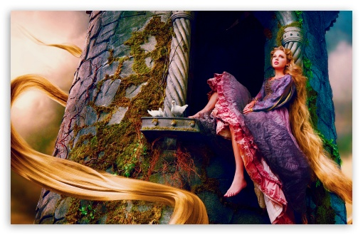 Download Taylor Swift As Rapunzel UltraHD Wallpaper