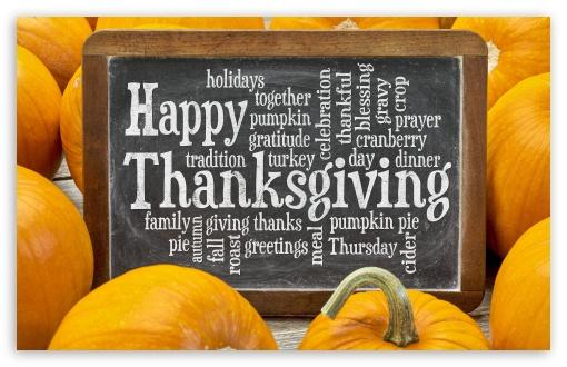Download Happy Thanksgiving greetings UltraHD Wallpaper