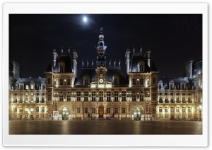 Hotel de Ville At Night,...