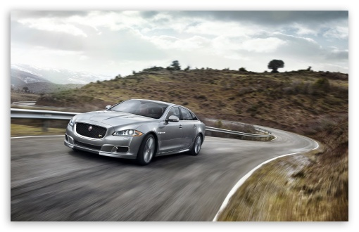 Download 2014 Jaguar XJR Road UltraHD Wallpaper