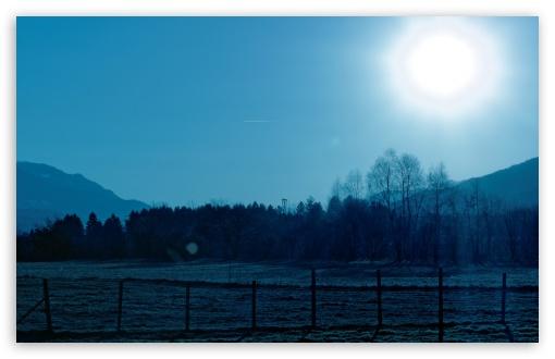 Download Ice Cold Morning Sun Rise UltraHD Wallpaper