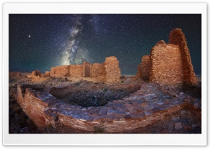 Night Sky, Ruins, Pueblo...