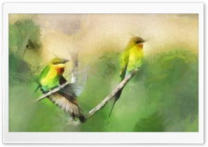 Birds Portrait Painting