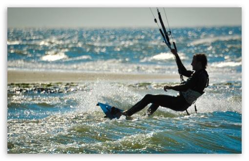 Download Kite Surfing   Renesse, Zeeland UltraHD Wallpaper
