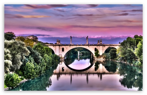 Download Bridge Reflection UltraHD Wallpaper