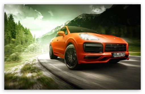 Download Porsche Cayenne Coupe TechArt 2019 UltraHD Wallpaper
