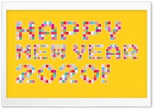 Happy New Year 2020 Pixel Art