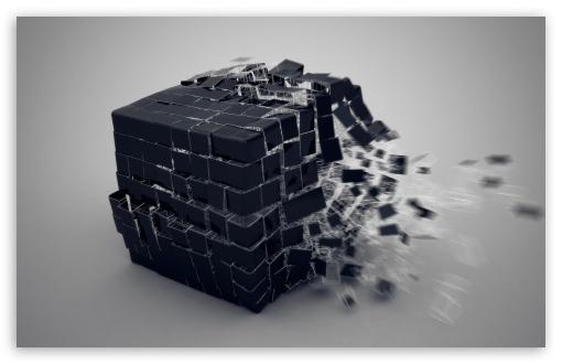 Download Exploding Cube UltraHD Wallpaper