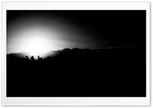 Vegas Sunset Black and White