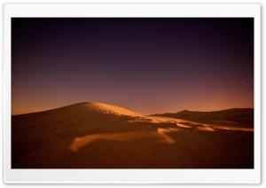 Desert, Night, Sky, Stars