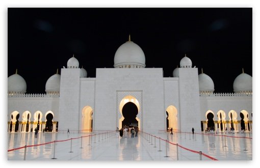 Download Abu Dhabi Mosque Night [8566432481] UltraHD Wallpaper