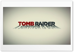 Tomb Raider 2013 White Poster