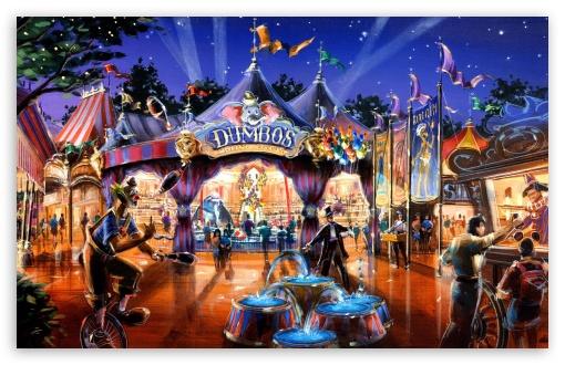 Download Dumbo In Fantasyland UltraHD Wallpaper