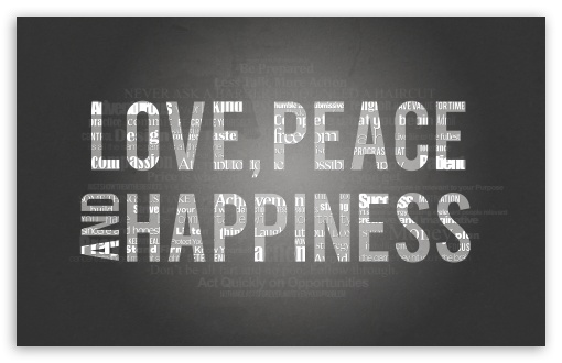 Download Love, Peace and Happiness UltraHD Wallpaper