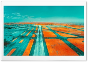 Runway Infrared Photography