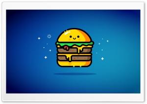 Cute Double Cheeseburger - Blue