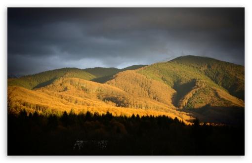 Download Sunset Mountains UltraHD Wallpaper