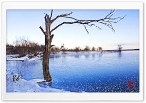 Clinton Lake Frozen