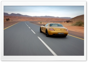 Golden Mercedes Benz SLS AMG