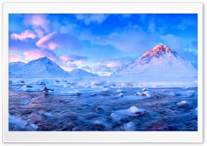 Winter River Scene