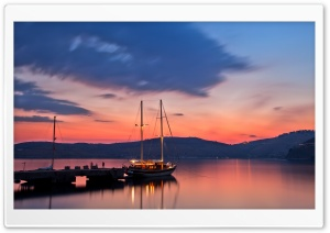 Alongside Yacht, Evening