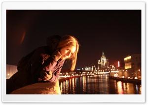Girl, City At Night
