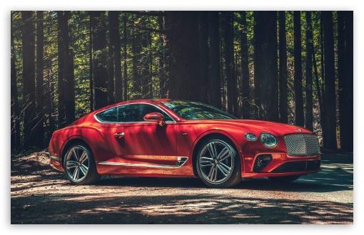 Download 2020 Red Bentley Continental GT V8 Car UltraHD Wallpaper