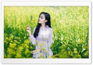 Alone Girl Smile
