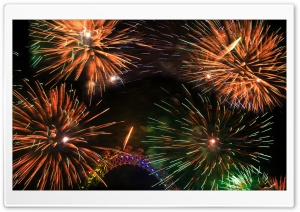 Colorful Fireworks Around The...