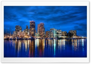 Waikiki Skyline At Night